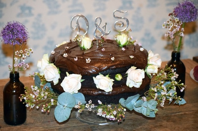 A naughty chocolate cake.
