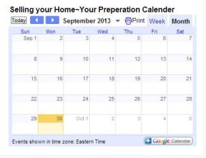 home marketing calender