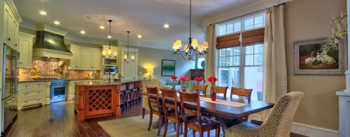 Breakfast room flows into kitchen and keeping room