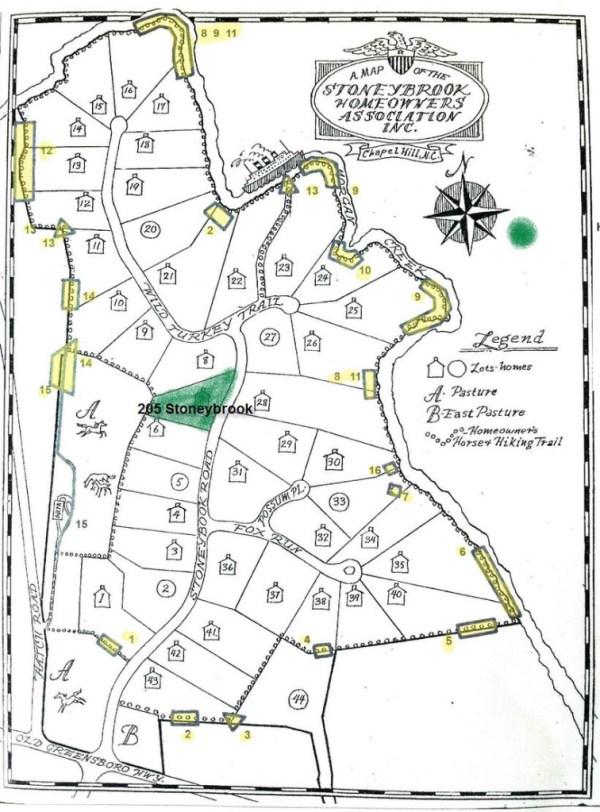 Stoneybrook map, Chapel Hill, NC