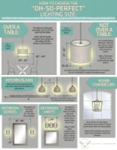 How to choose the perfect light fixture size