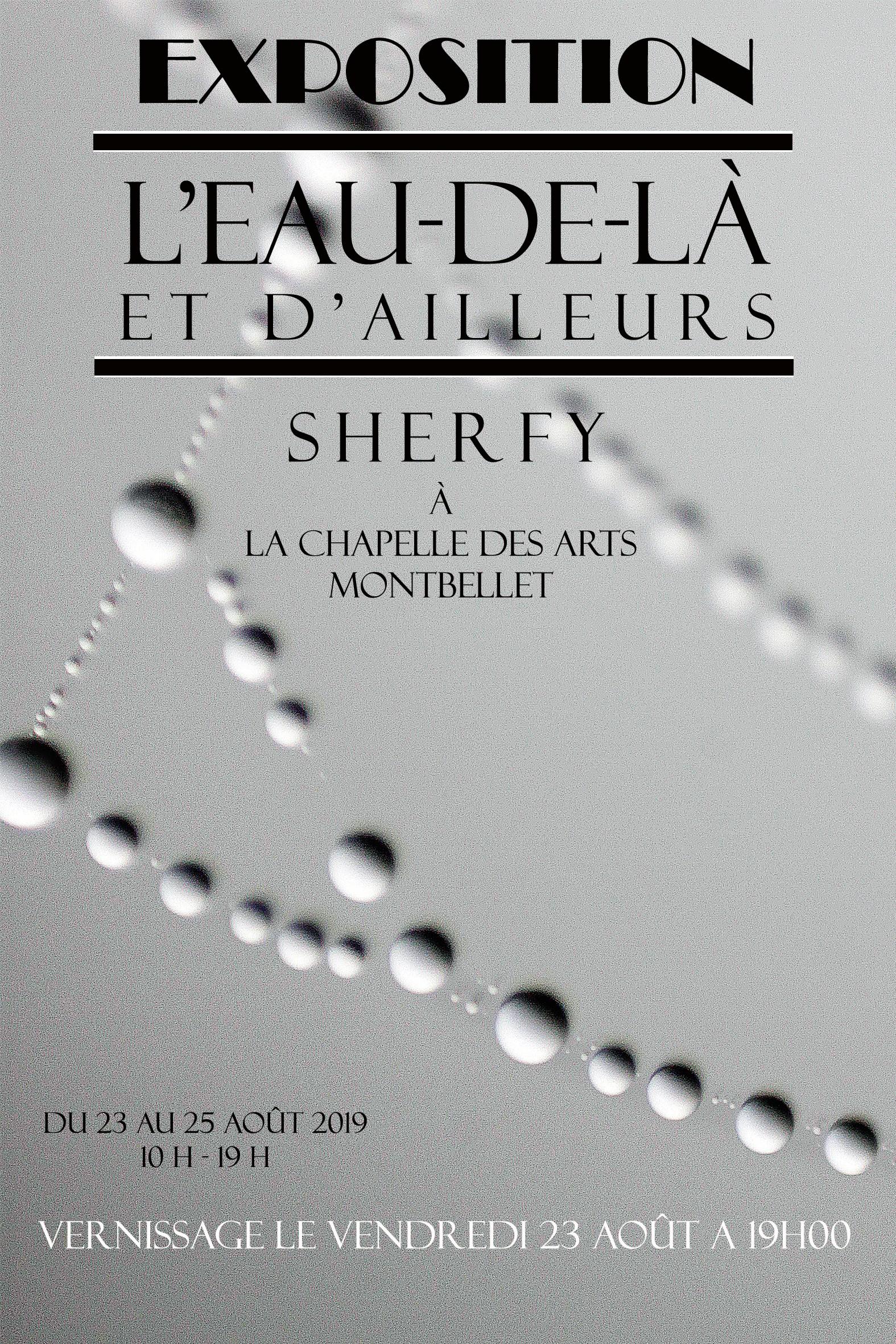 """Exposition """"L'Eau de là et d'ailleurs"""" de Sherfy."""