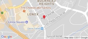 Google Map of 3355 Lenox Rd, Atlanta, GA 30326