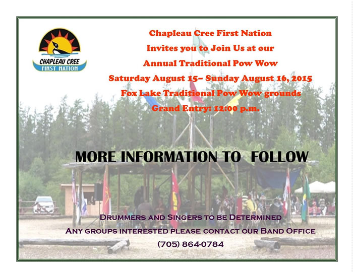 Chapleau Cree First Nation Traditional Pow Wow