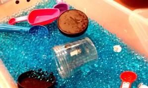 water beads, guaranteed sensory fun