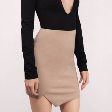 taupe-lisa-asymmetric-mini-skirt