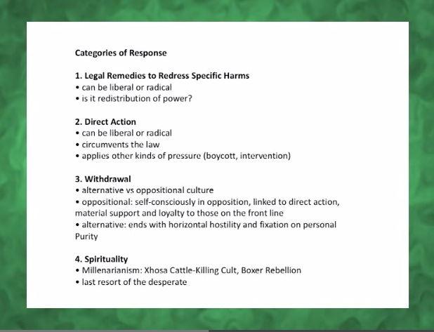 Response Categories
