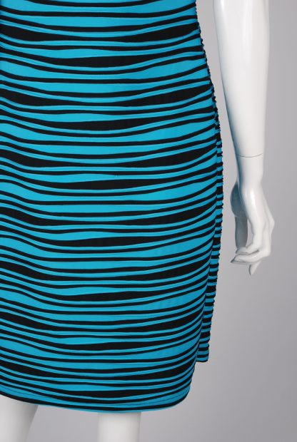 Joseph Ribkoff Striped Dress - Size 14 - Back Hem