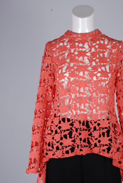 Stella Coral Lace Top - Size 8 - Front Detail