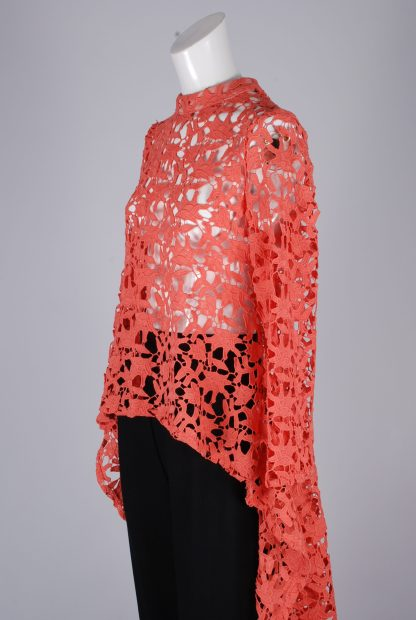 Stella Coral Lace Top - Size 8 - Side Detail