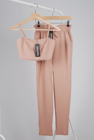 Boohoo Dusky Pink Co-Ord Set - Size 10 - Front