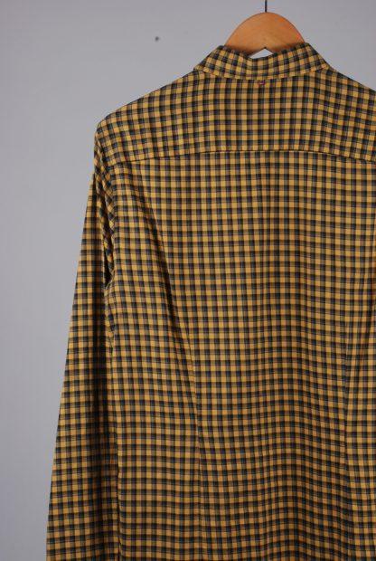 Pretty Green Yellow Check Shirt - Size M - Back Detail