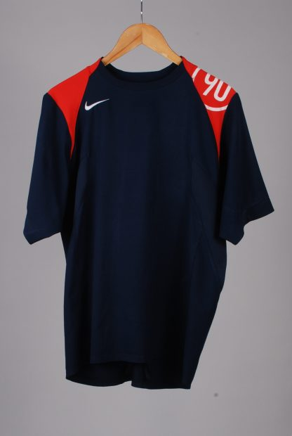 Nike Blue & Red Tee - Size M - Front