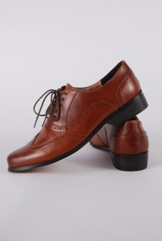 Clarks Brown Brogues - Size 5.5 - Side