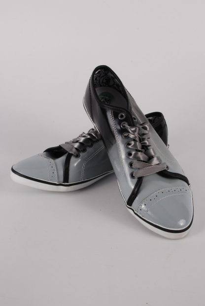 Nanny State Black & Grey Trainers - Size 4 - Front