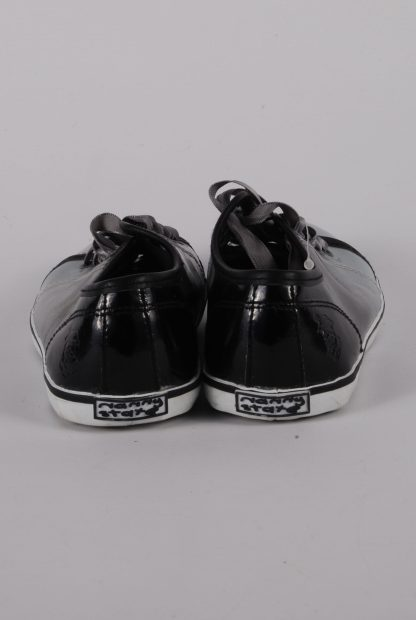 Nanny State Black & Grey Trainers - Size 4 - Heel