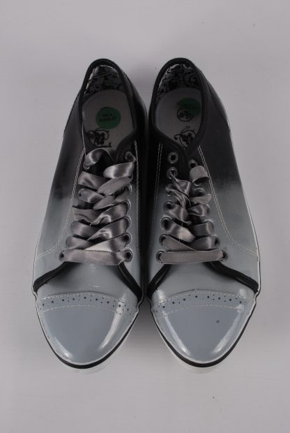 Nanny State Black & Grey Trainers - Size 4 - Top