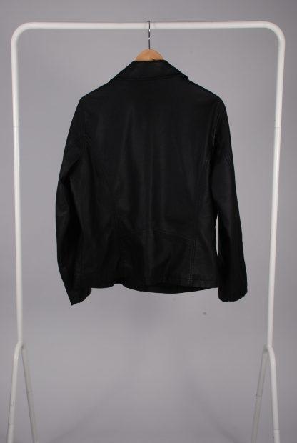 Very Black Biker Style Jacket - Size 20 - Back