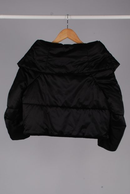 Zara Black Cropped Quilted Jacket - Size S - Back