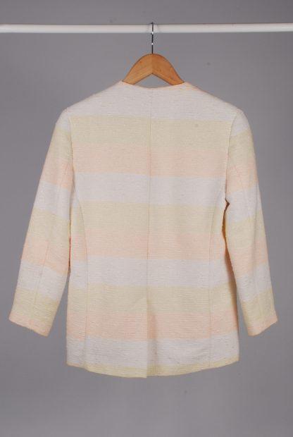 ASOS Pastel Striped Jacket - Size 10 - Back