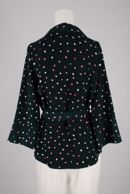 Monki Belted Polka Dot Box Shirt - Size S - Back