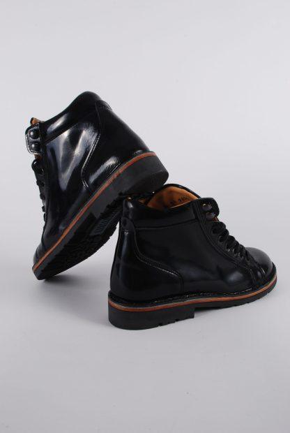 Piedro Black Patent Boots - Size 2.5 - Heel