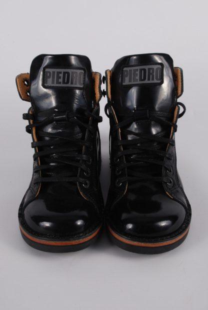 Piedro Black Patent Boots - Size 2.5 - Top