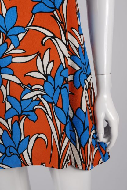 Topshop Tiered Floral Mini Dress - Size 10 - Front Skirt
