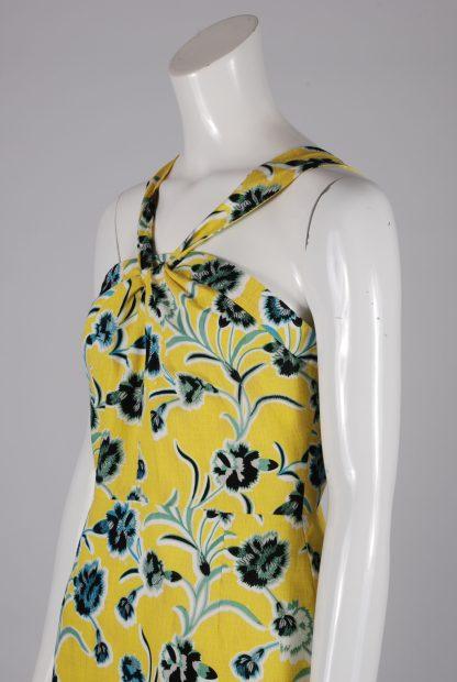 Topshop Floral Twist Mini Dress - Size 10 - Side Detail