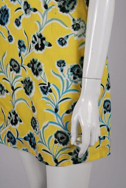 Topshop Floral Twist Mini Dress - Size 10 - Side Skirt