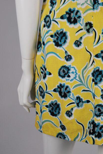 Topshop Floral Twist Mini Dress - Size 10 - Back Skirt