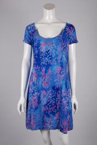 Barracuda Bazaar Rayon Tie Die Mini Dress - Size M - Front