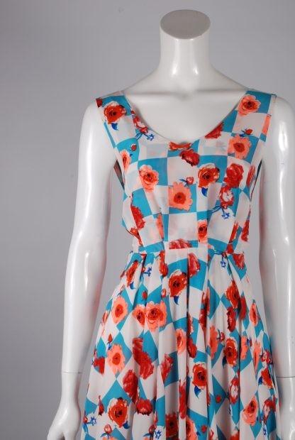 Sweet Poison Checkerboard Skater Dress - Size 10 - Front Detail