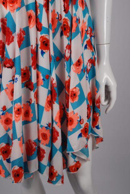 Sweet Poison Checkerboard Skater Dress - Size 10 - Front Skirt