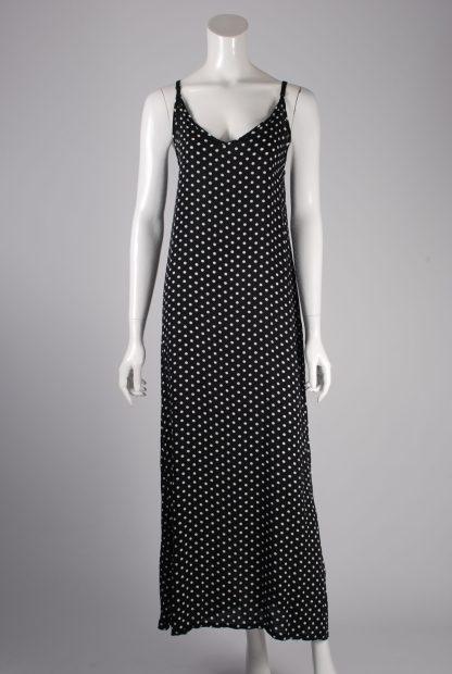 Yidarton Black & White Polka Dot Dress - Size XL - Front