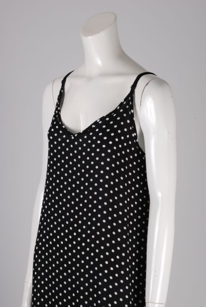 Yidarton Black & White Polka Dot Dress - Size XL - Side Detail