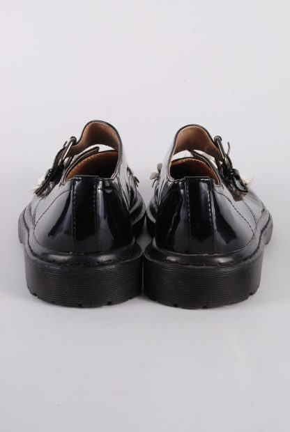 ASOS Black Patent Flower Decal Shoes - Size 8 - Back Detail