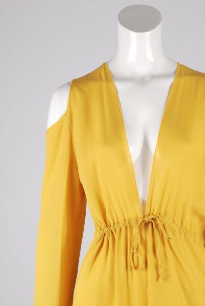 Boohoo Yellow Sheer Kimono Jacket - Size S/M - Front Detail