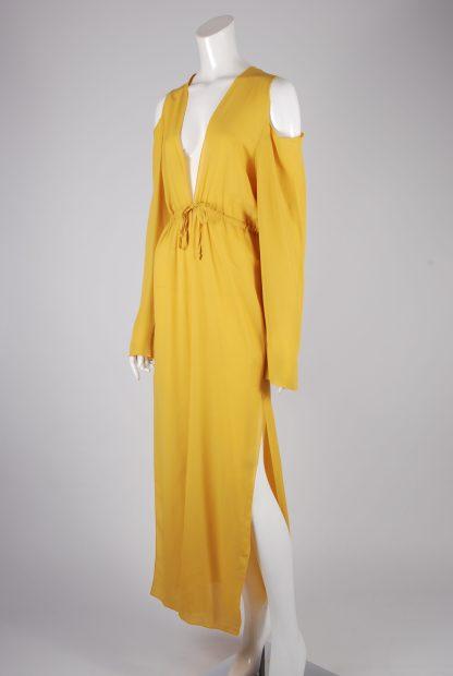 Boohoo Yellow Sheer Kimono Jacket - Size S/M - Side