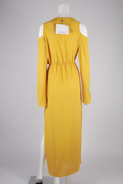 Boohoo Yellow Sheer Kimono Jacket - Size S/M - Back