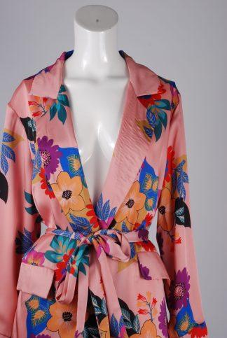 Glamorous Floral Kimono Jacket - Size 10 - Front Detail