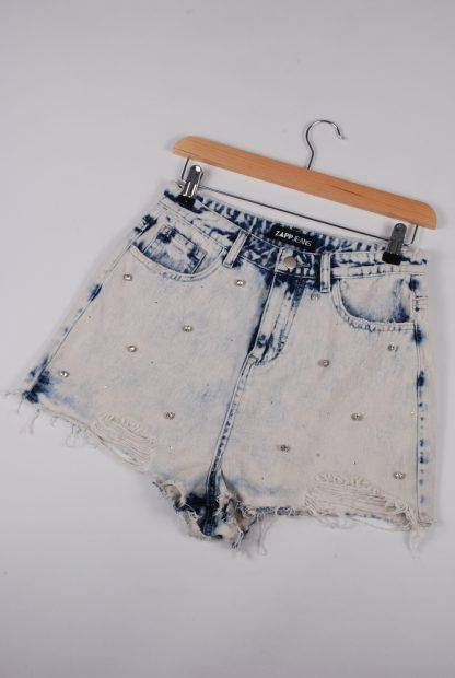 Zapp Acid Wash Denim Shorts - Size 10 - Front