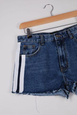 Monokrom Denim Striped Shorts - Size 10 - Front Detail