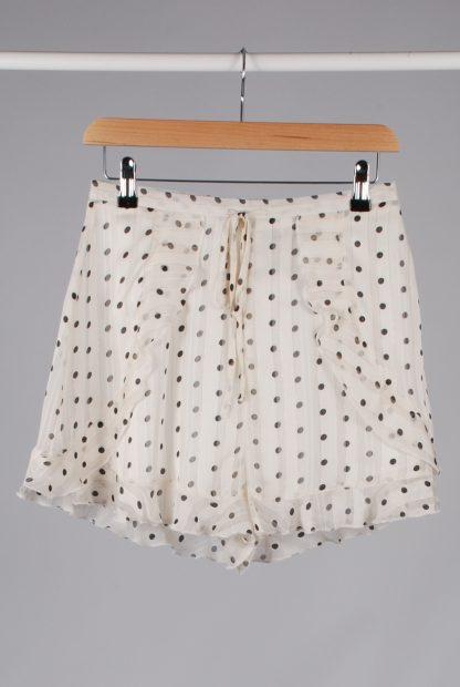 Boohoo Polka Dot Frilled Shorts - Size 10 - Front