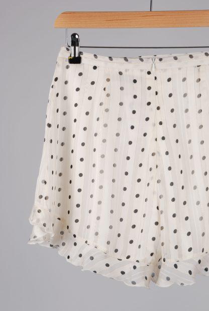 Boohoo Polka Dot Frilled Shorts - Size 10 - Back Detail