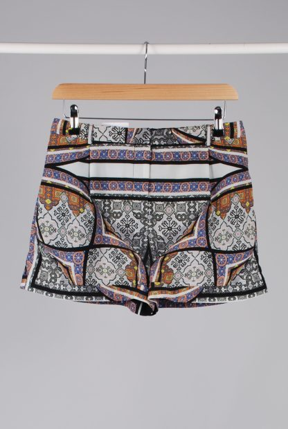 Topshop Abstract Pattern Shorts - Size 10 - Front