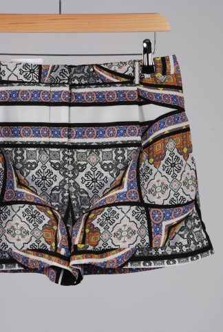 Topshop Abstract Pattern Shorts - Size 10 - Front Detail