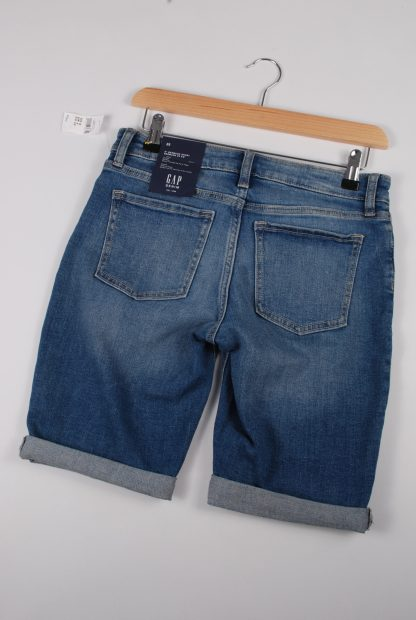 GAP Mid Thigh Denim Shorts - Size 4 - Back