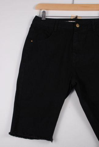 London Crew Black Shorts - Size S - Front Detail