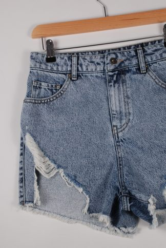 Boohoo Denim Cut Out Shorts - Size 10 - Front Detail